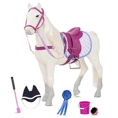 Our Generation- Our Generation-BD38155Z Grey Horse Grande Cavallo Bianco e Grigio, 51 cm, BD38155Z