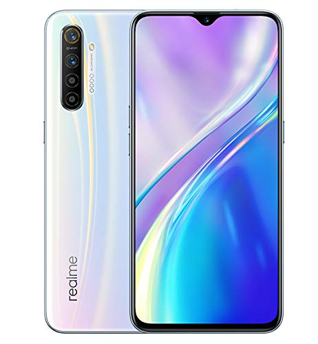 "realme X2 Smartphone con Display Super Amoled da 6.4"", 2340 x 1080 Pixel, Snapdragon 730 G, 8 GB RAM, Memoria Interna 128 GB, Camera di 64 MP, ColorOS 6, Bianco (Pearl White)"
