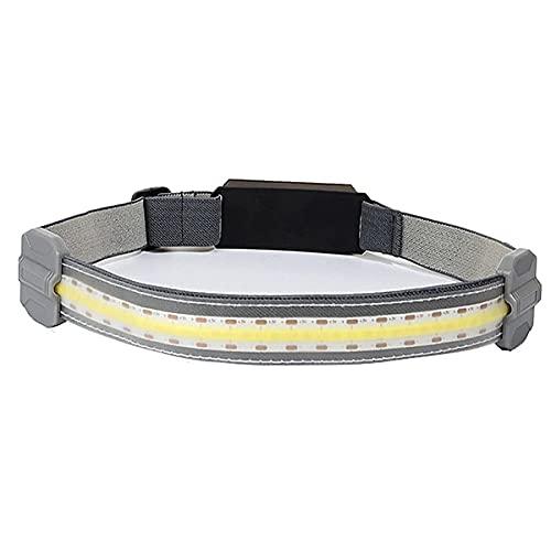 Iksvmsis Linternas Frontale,Ajustable Frontal led Recargable para Correr, Excursión,Caza,Montañismo 3 Modos de Luz luz Tenue,Linterna Frontal led Recargable Frontal LED