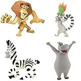 Price Toys Madagascar Mini Figura Juguetes - Alex, Marty, el Rey Julien y los pingüinos (Alex/Marty/Gloria/King Julien)