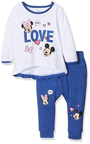 Disney Minnie 2128 Ensemble, Blanc (Blanc Blanc), 2 Ans (Taille Fabricant:24 Mois) Bébé Fille