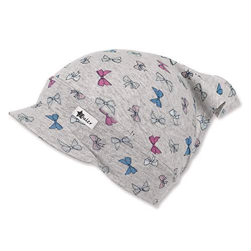 Sterntaler Baby-Mädchen Headscarf Mütze, Grau (Silber 513), 49