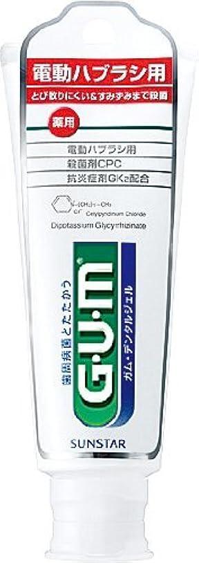 ゆでる電気の敬意電動ハブラシ用 GUMデンタルジェル 65G(2入り)