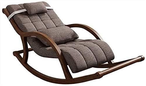 PULLEY Silla mecedora sencilla de madera maciza, silla Siesta, silla fácil de usar, silla para el hogar, diseño ergonómico, anticorrosión y duradero (color: B)