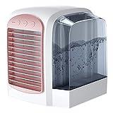 Raffreddatore d'aria Breeze Maxx, sistema di raffreddamento rapido, condizionatore d'aria ricaricabile 2021 raffreddato ad acqua per scrivania da ufficio in camera piccola all'aperto (Pink)