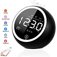 Anymow Bluetooth Speaker Radio Alarm Clock With FM