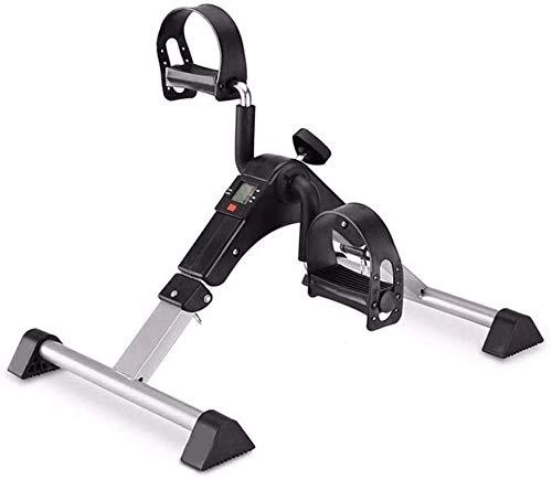 SMSOM Bajo Ciclo turística - Pedal estacionario ejercitador con Suave Resistencia - Mini portátil Plegable Bicicleta estática for Reservado doméstico o de Oficina