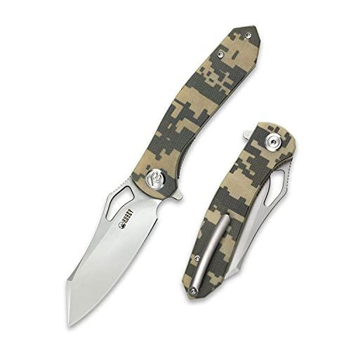 Kubey Drake KU310 3 Taschenmesser, EDC Messer mit Scharfes S30V Edelstahl und G-10 Griff, Outdoor and Survival Klappmesser mit Titan-Clip Ideal für die Jagd, Camping und Wandern (Camouflage)