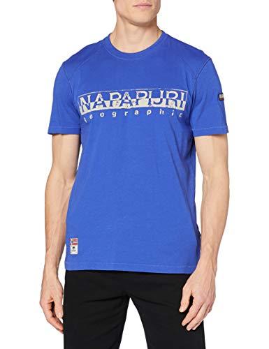 NAPAPIJRI Sishop T-Shirt, Blu (Ultramarine Blu Bb41), Medium Uomo