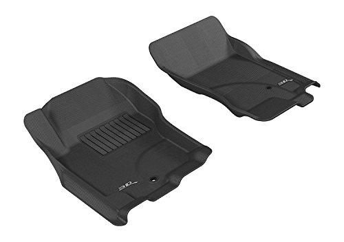 3D MAXpider All-Weather Floor Mats for Nissan Pathfinder 2005-2012 / Xterra 2005-2015 Custom Fit Car Floor Liners, Kagu Series (1st Row, Black)