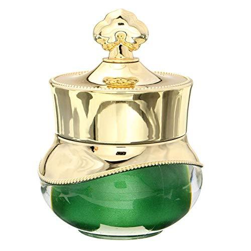 SAGIUSDM 2 pcs Crème Pot Couronne Forme en Plastique Rechargeable Vide Bouteille Visage Yeux Lotion Conteneur Voyage Nail Art Maquillage Pot, Or Vert