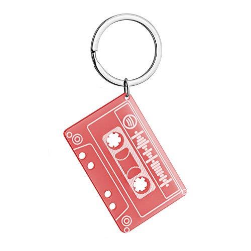 Wuloopesoy Benutzerdefinierte scannbare Spotify Code Schlüsselbund personalisierte Acryl Musik Tapes Board Bunte Schlüsselbund für Geschenke
