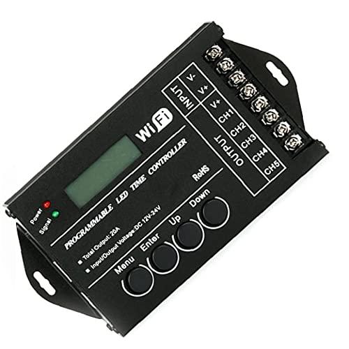 Controlador de tiempo LED TC421 WiFi inalámbrico WiFi Programable Multi-Funciones MULTI-CONTROLADOR LED Dimmer Controlador Herramienta operada a mano