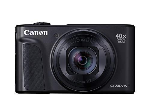 Canon コンパクトデジタルカメラ PowerShot SX740 HS ブラック 光学40倍ズーム 4K動画 Wi-Fi対応 PSSX740HSBK