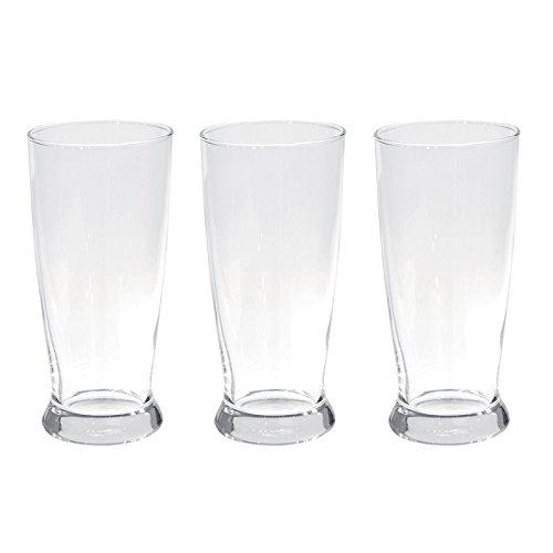 Excelsa Monaco Set Bicchieri da Birra, Vetro, Trasparente, 3 Pezzi, 35 cl