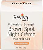Reviva Labs Brown Spot Night Cream, with Kojic Acid, 1-Ounce (28 g)