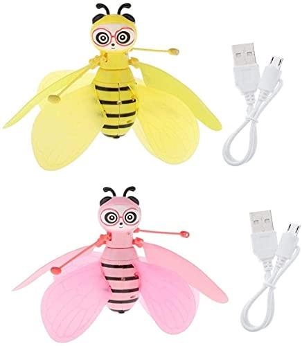 Ellenbogenorthese-LQ Drone partes 2pcs Flying Bee Drone juguete infrarrojo sensor recargable W/LED luz