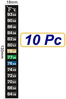 SUKRAGRAHA Traditional Stick-on Digital Temperature Thermometer Strip Degree Fahrenheit..
