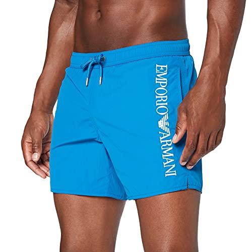 Emporio Armani Swimwear Boxer Embroidery Logo Costume da Bagno, Black, 48 Uomo