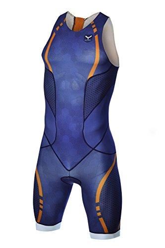 TAYMORY Swim Run T150 Mono de Triatlón, Hombre, Azul, S