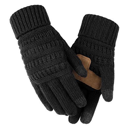 OZERO Damen Winterhandschuhe, Winter Touchscreen Fahrradhandschuhe Reithandschuhe