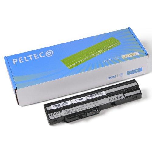 PELTEC@ Batterie de rechange pour ordinateur portable Medion Akoya, équivalent des modèles Mini E1210 E-1210 U100 BTY-S11 BTY-S12 Noir 4400 mAh
