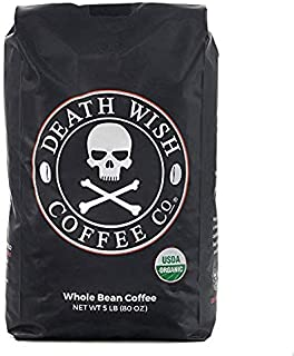 Death Wish Coffee Whole Bean Coffee, The World's Strongest Coffee, Fair Trade and..