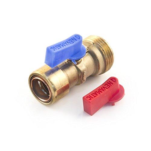 Cuprofit Pushfit lavadora válvula de retención 15mm x 3/4BSP bola palanca aislamiento...