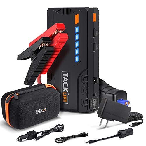 TACKLIFE T6 800A Peak 18000mAh Car Jump Starter (up to 7.0L Gas, 5.5L Diesel Engine) with Long...
