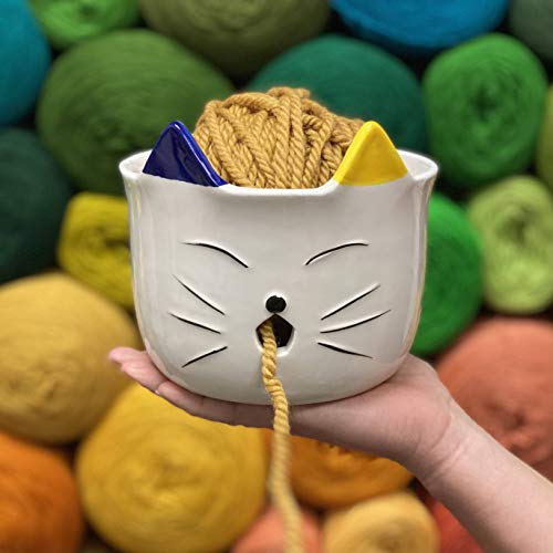 Cat Ceramic Yarn Bowl