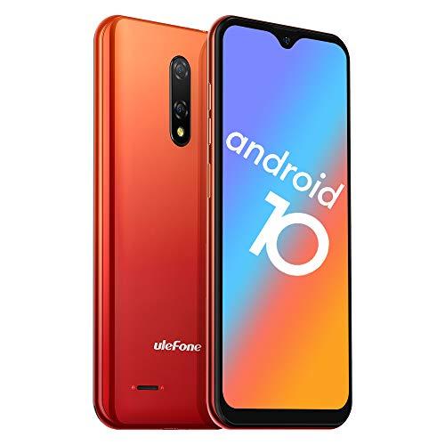 携帯電話ロック解除、Ulefone 2020 Note 8P 4GスマートフォンSIMフリーロック解除、Android 10 GO、2GB RAM 16GB ROM、5.5インチ水滴フルスクリーン、トリプルカードスロット、デュアルカメラ (Amber Sunrise)