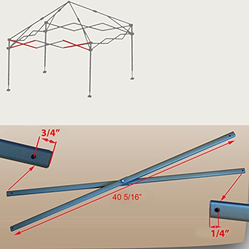 for Coleman New Style Instant 10' x 10' Straight Leg Canopy Gazebo Shelter SIDE TRUSS Bar Replacement Parts 40 5/16'
