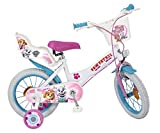 Toimsa 14' 14 Zoll Kinder Kinderfahrrad Mädchen Mädchenfahrrad Disney Fahrrad Rad Bike Paw Patrol...