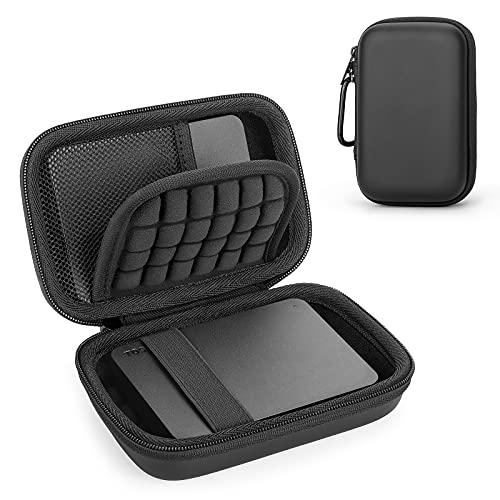 Funda Estuche para Toshiba Canvio Basics 2.5 & WD Elements & Seagate Disco Duro Portatil con USB 3.0, Caja Cubrir Universal para Memoria Externo HDD Protectora Rígida Bolsa(Black)
