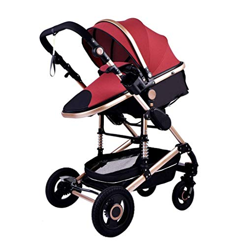 min min Cochecito de bebé Cochecito 3 en 1 Viaje portátil Carro de bebé Cochecito Plegable Cochecito de Aluminio Coche de Paisaje Alto para bebé recién Nacido (Color: E) (Color : E)