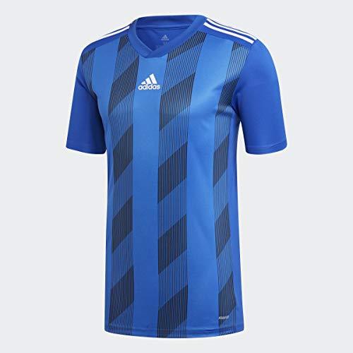 adidas mens Striped 19 Jersey Bold Blue/White Medium