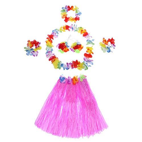 Wakerda Fiesta Hawaiana Disfraces Falda Falda De Hula Kit De Hawaii Pa