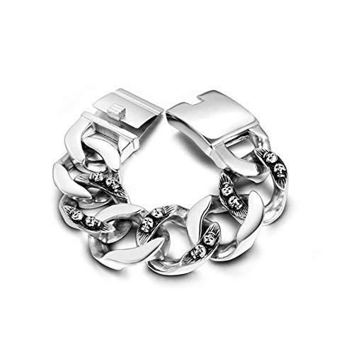 ASIG Skull Armband Punk Armband Titanium Staal Armband