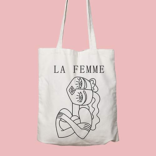 La Femme, bolsa de la compra, bolsa feminista, bolsa de hombro, lavable y reutilizable, gran elección para regalo para ella, bolsa de comestibles, bolsa amigable, bolsa de mujer, The Future is Female