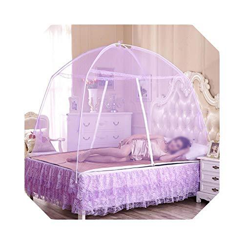Für Mädchen & Erwachsene | 5 Sommer Moskitonetze Baby Erwachsene Bettwäsche Zelt Etagenbett Moskitonetze Erwachsene Doppelbett Zelt Net-White-180x200cm
