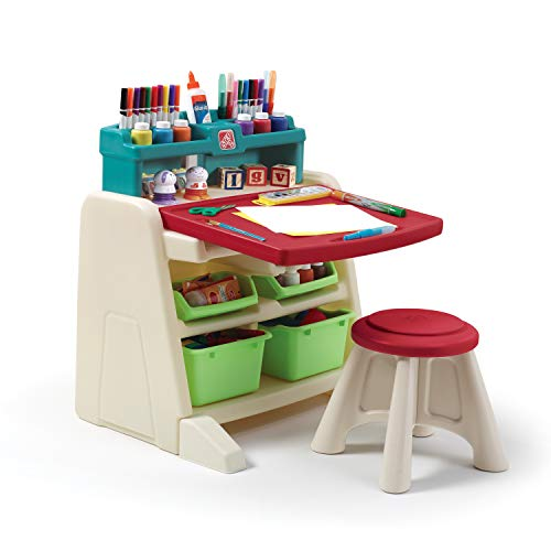 Product Image of the Step2 Flip and Doodle Desk with Stool Easel