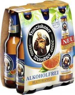 Franziskaner Alkoholfrei Blutorange Biermischgetränk MEHRWEG (6 x 0.33 l)