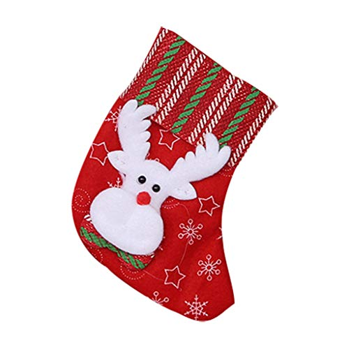 MRULIC Nikolausstiefel zum Befüllen großer Weihnachtsstrumpf zum Aufhängen Nikolaus Stiefel Weihnachten zum Aufhängen für Kamin Strumpf Deko Socke Schneemann Weihnachtsbaum Deko(C3)