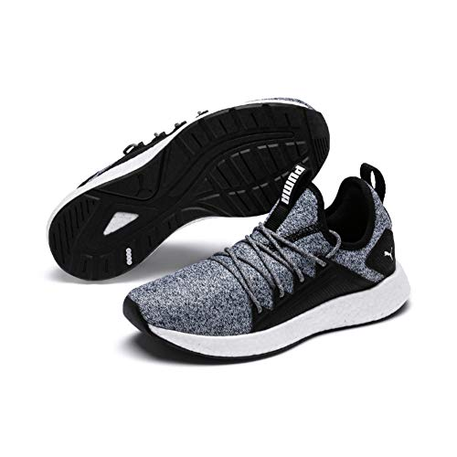 Puma NRGY Neko Knit Jr, Unisex-Kinder Sneakers, Schwarz (Puma Black-Puma White), 37 EU