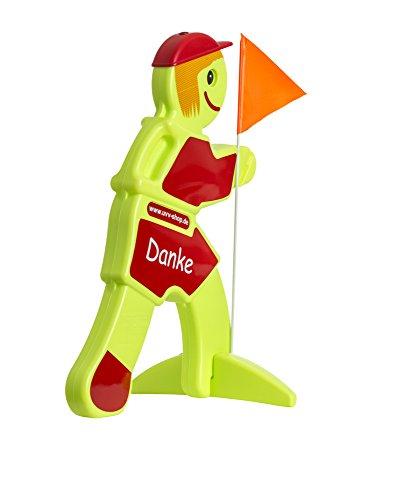 UvV Warnpuppe mit rot reflektierender Folie warnt Autofahrer vor spielenden Kindern - Reflektorenaufkleber für Schutz & Sicherheit in der Dunkelheit