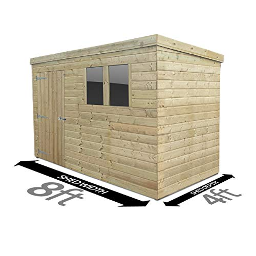 Total Sheds 8ft (2.4m) x 4ft (1.2m) Shed Pent Shed Garden Shed Timber Shed