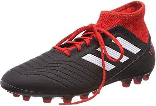Adidas Predator 18.3 AG, Botas de fútbol para Hombre, Multicolor (Negbás/Ftwbla/Rojo 000), 39 1/3 EU