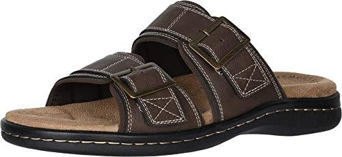 Dockers Mens Delray Casual Slide Sandal Shoe, Briar, 10 M