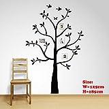 Vinilo adhesivo para pared con diseño de árbol genealógico, extraíble, 185 x 125 cm