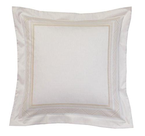 Blanc des Vosges Zig Zag Taie, Coton, Chanvre, 65 x 65 cm